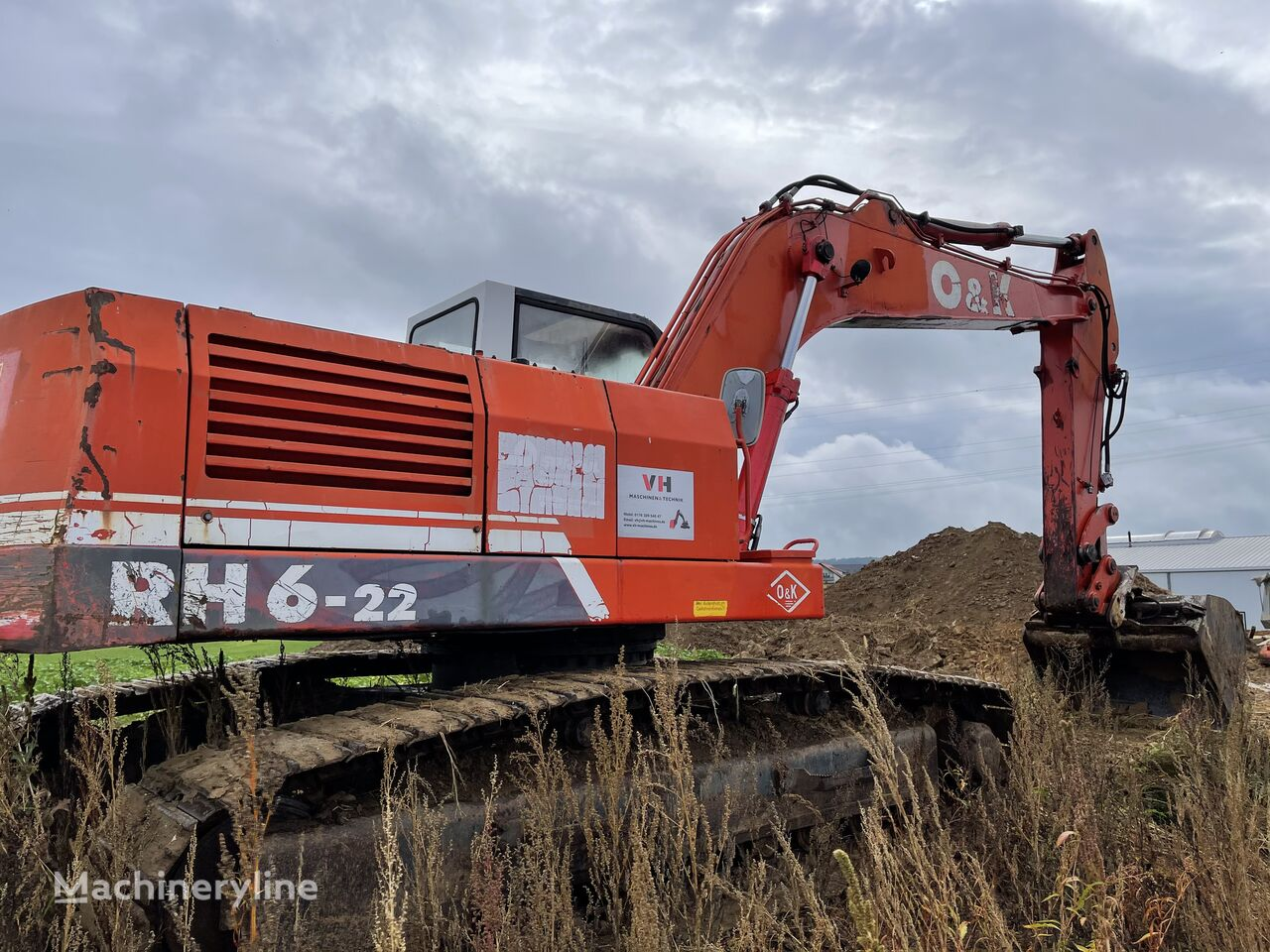 excavator dengan track O&K RH 6-22