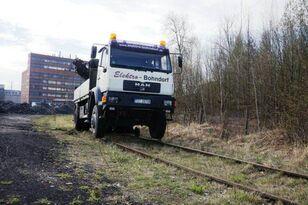 mobile crane MAN 18.280 4x4 HIAB 166 Road RAIL Two way Schiene