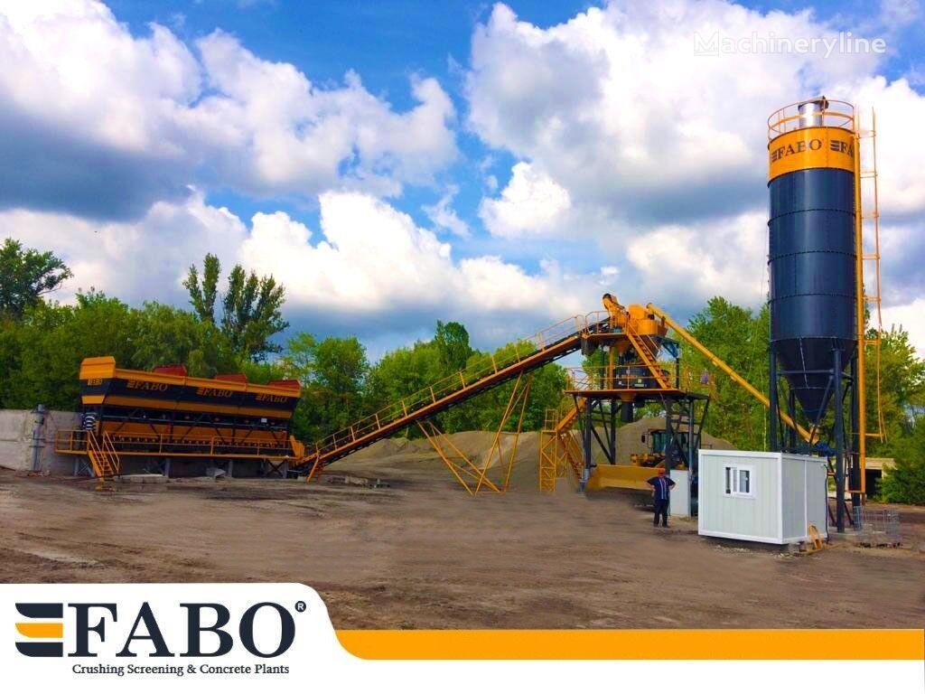 pabrik beton FABO 75m3/h STATIONARY CONCRETE MIXING PLANT baru