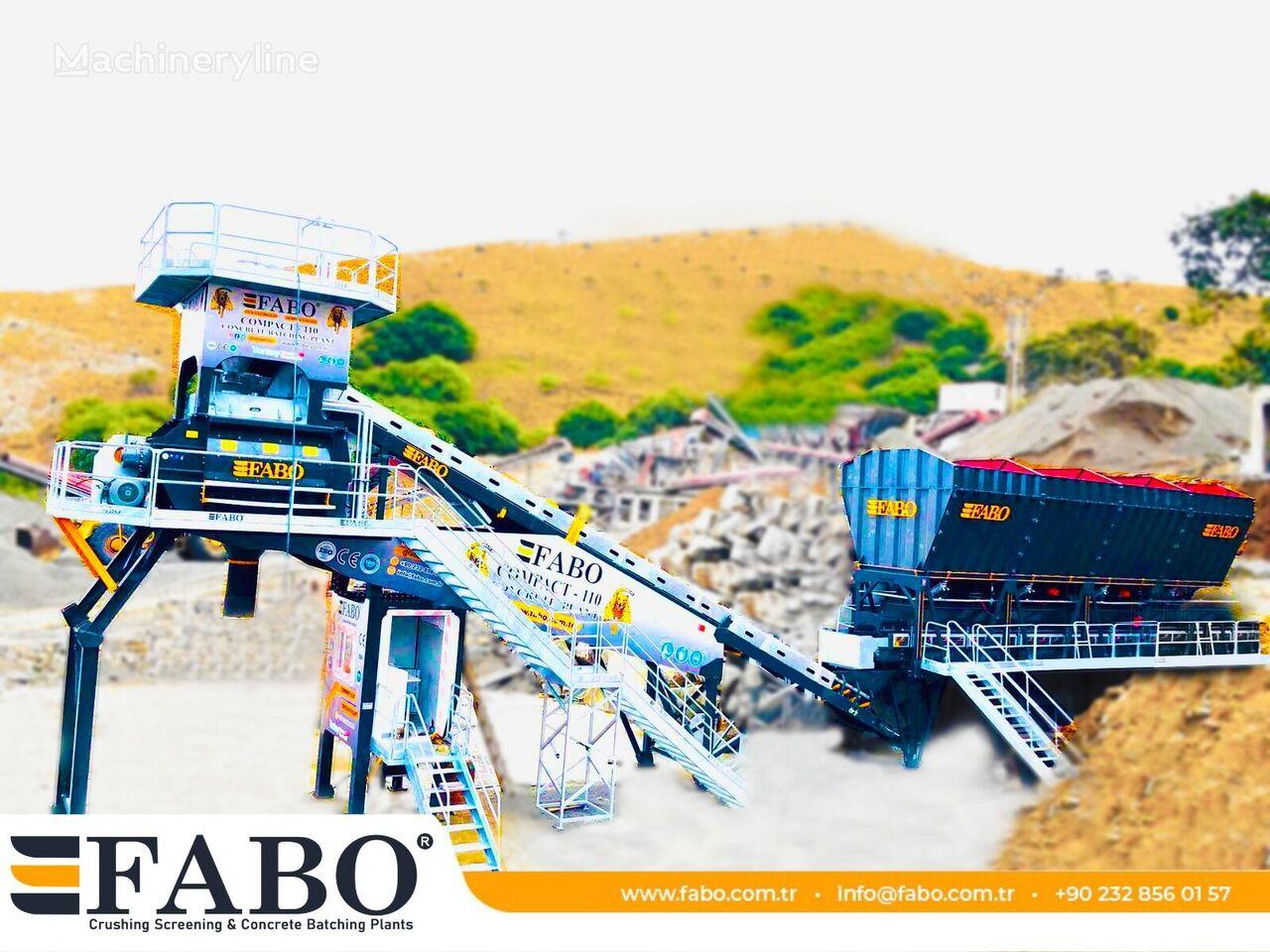 pabrik beton FABO  FABOMIX COMPACT-110 CONCRETE PLANT | CONVEYOR TYPE baru