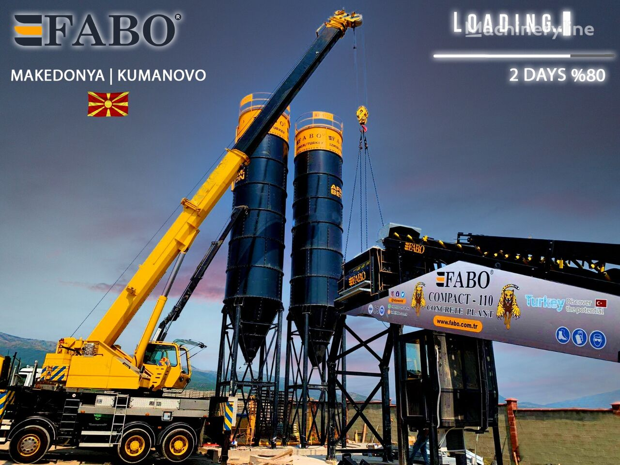 pabrik beton FABO FABOMIX COMPACT-110 CONCRETE PLANT   CONVEYOR TYPE baru