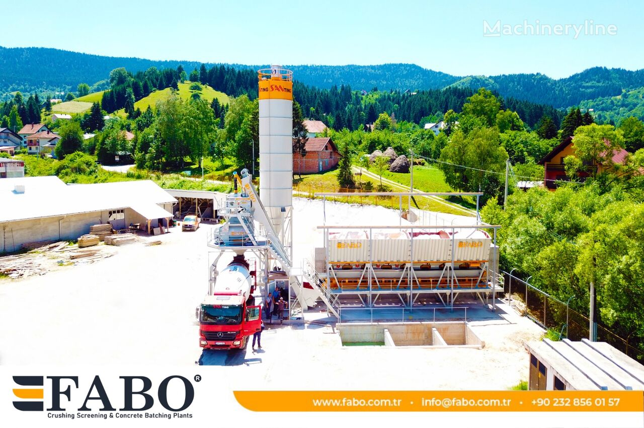 pabrik beton FABO FABOMIX COMPACT-110 NEW GENERATION CONCRETE PLANT baru