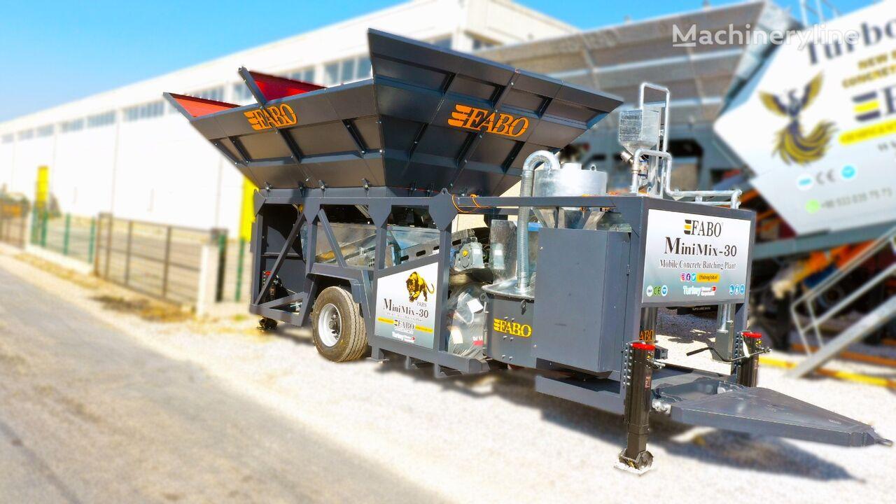 pabrik beton FABO MINIMIX-30 MOBILE CONCRETE PLANT 30 M3/H READY IN STOCK baru