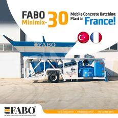 pabrik beton FABO MINIMIX-30M3/H MINI CENTRALE A BETON MOBILE baru