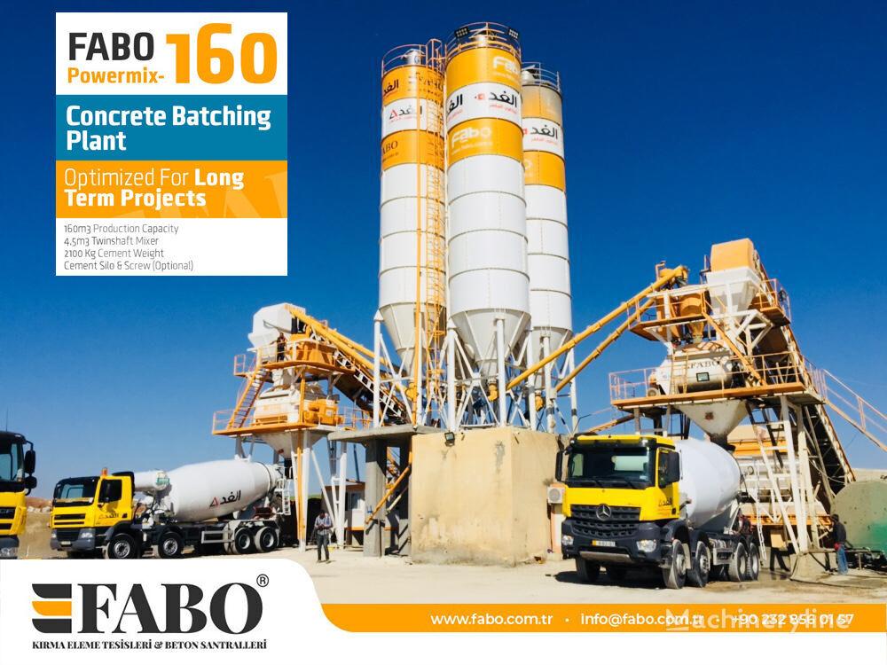 pabrik beton FABO POWERMIX-160 STATIONARY CONCRETE BATCHING PLANT baru