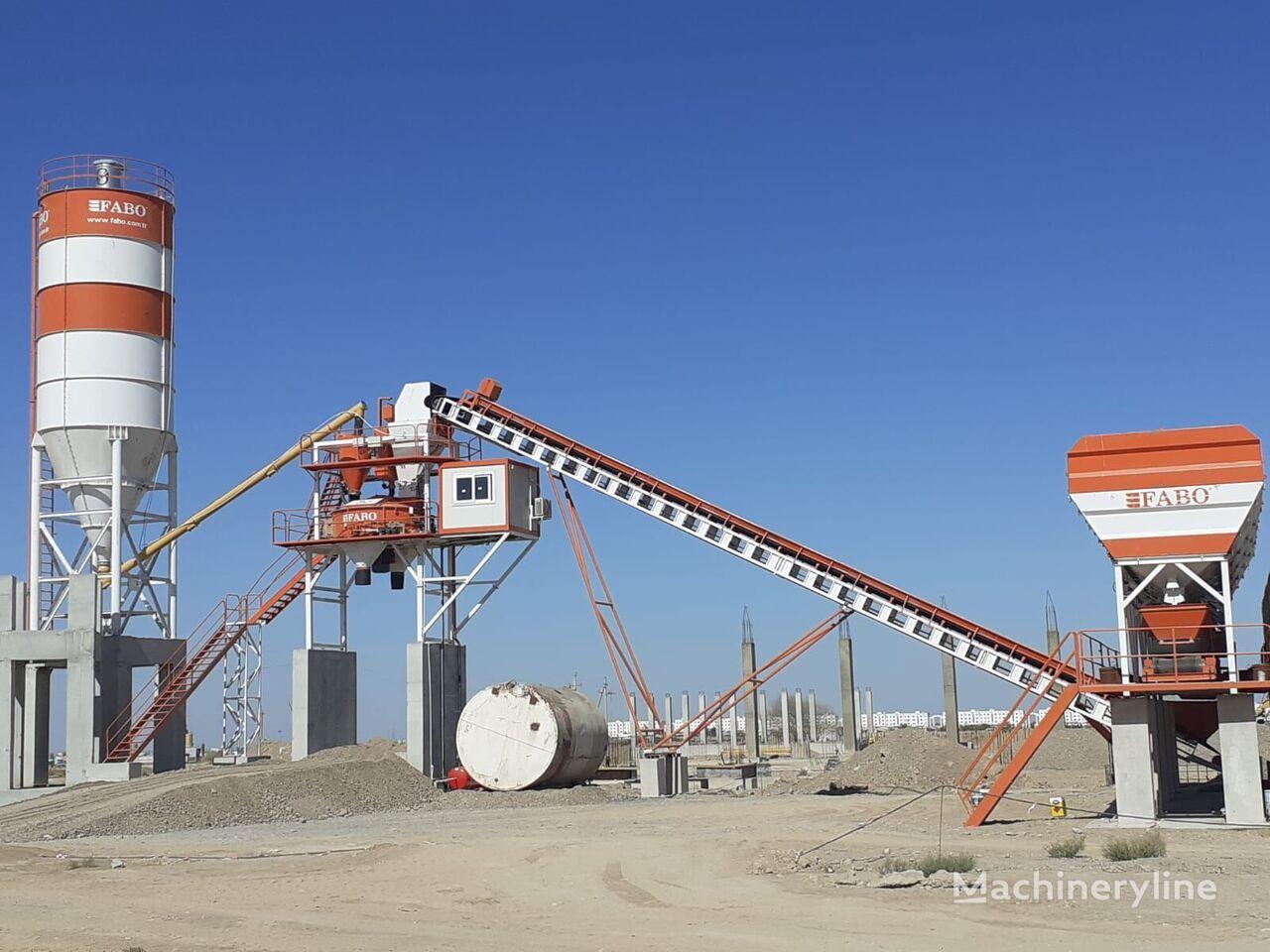 pabrik beton FABO POWERMIX-90 FIXED CONCRETE MIXING PLANT baru