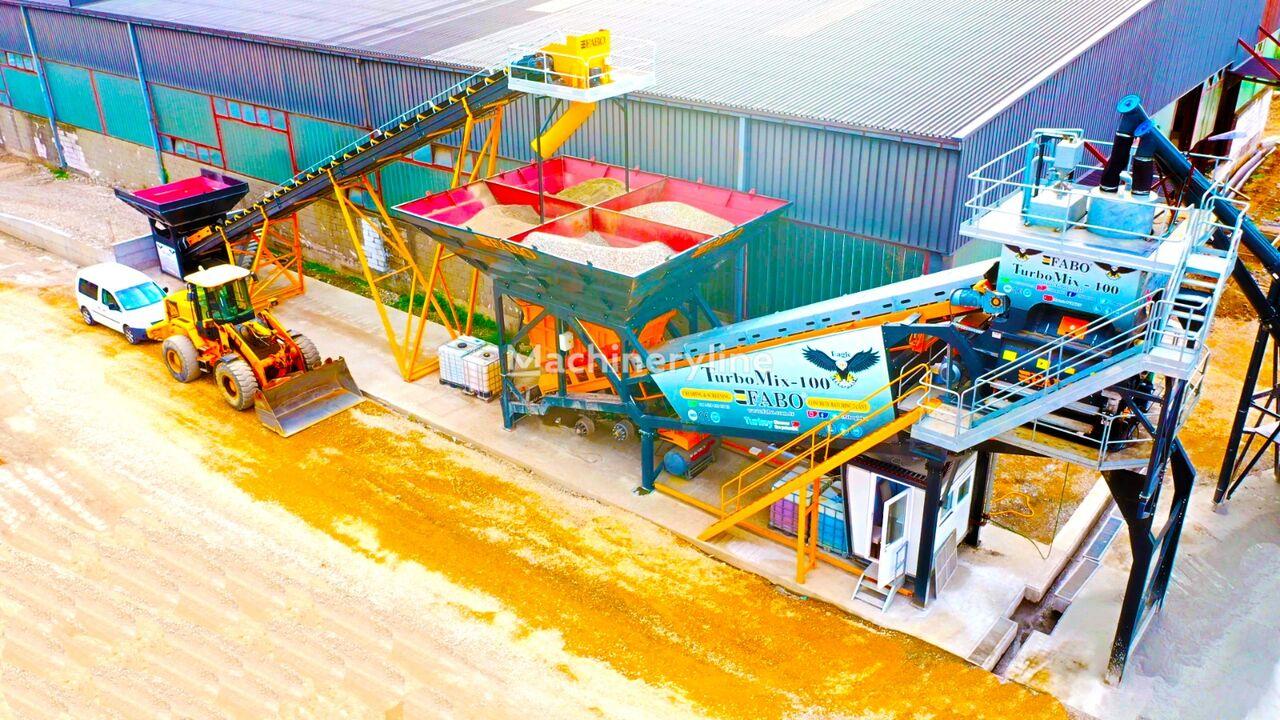 pabrik beton FABO TURBOMIX-100 MOBILE CONCRETE PLANT READY baru