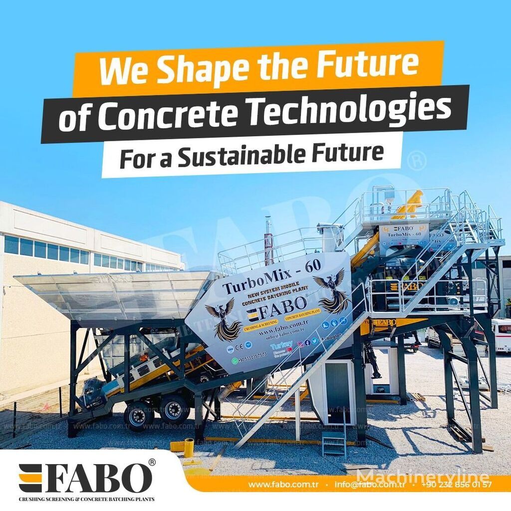 pabrik beton FABO TURBOMIX-60 MOBILE CONCRETE MIXING PLANT baru