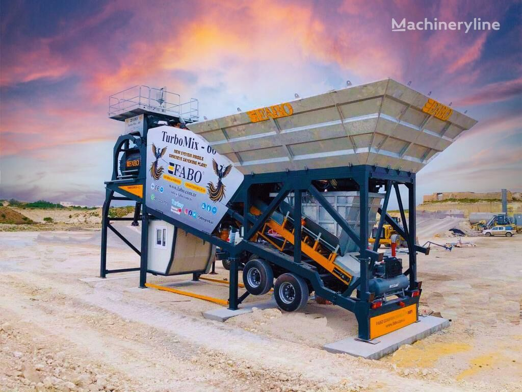 pabrik beton FABO TURBOMIX-60 MOBILE CONCRETE PLANT WITH PRE-FEEDING SYSTEM baru