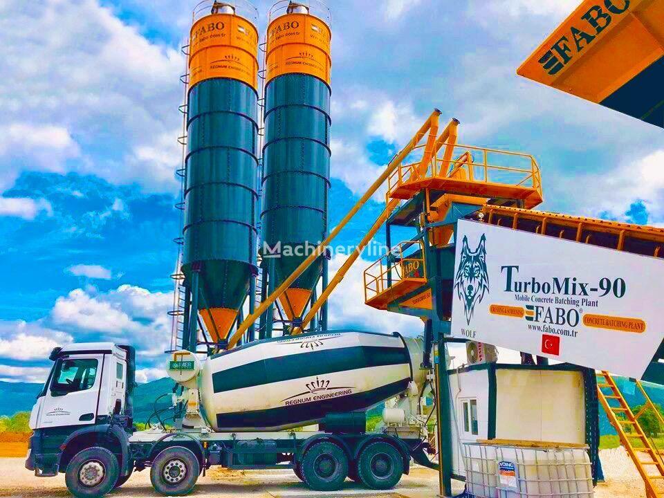 pabrik beton FABO TURBOMIX-90 MOBILE CONCRETE PLANT HIGH QUALITY 90 M3/H baru