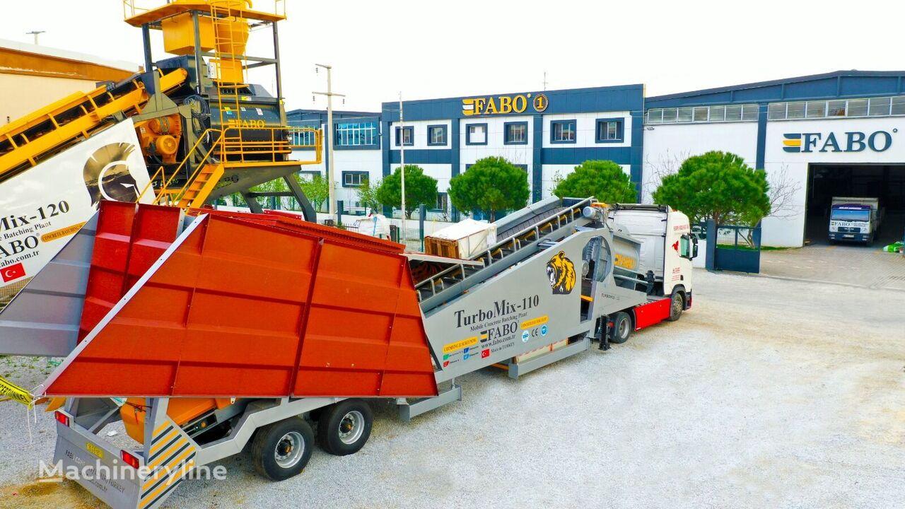 pabrik beton FABO TURBOMİX 110 CE QUALITY NEW GENERATION MOBILE CONCRETE MIXING PL baru