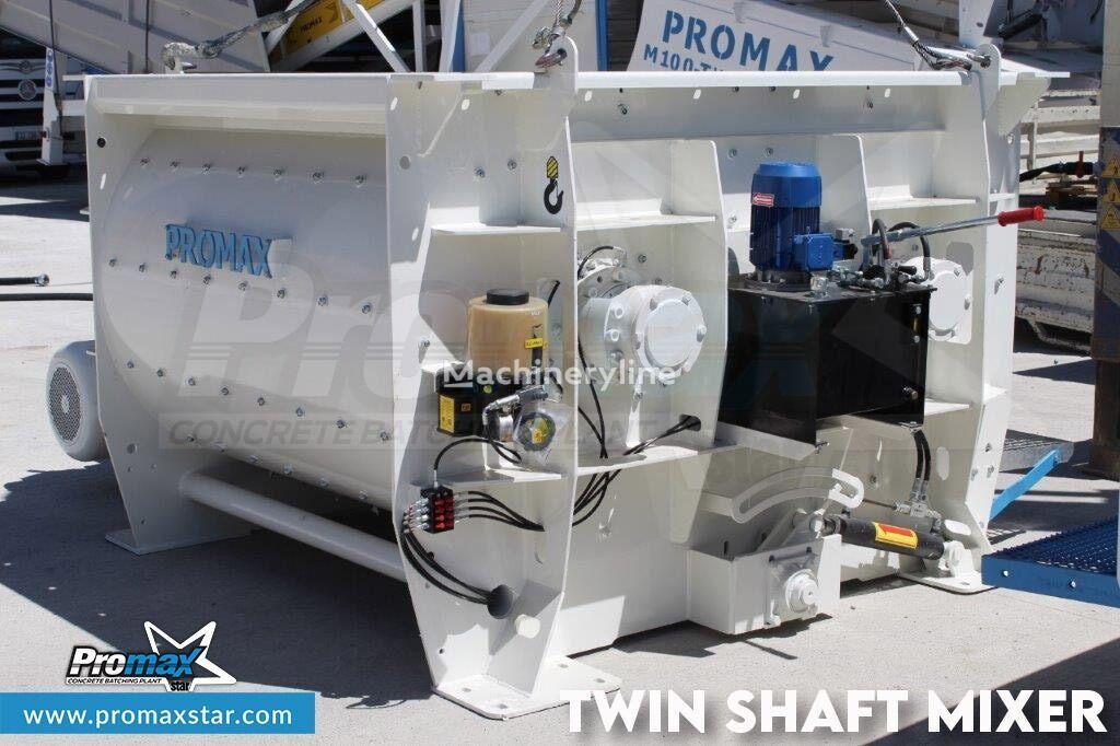 pabrik beton PROMAX 2 m3 /3 m3 TWIN SHAFT MIXER baru
