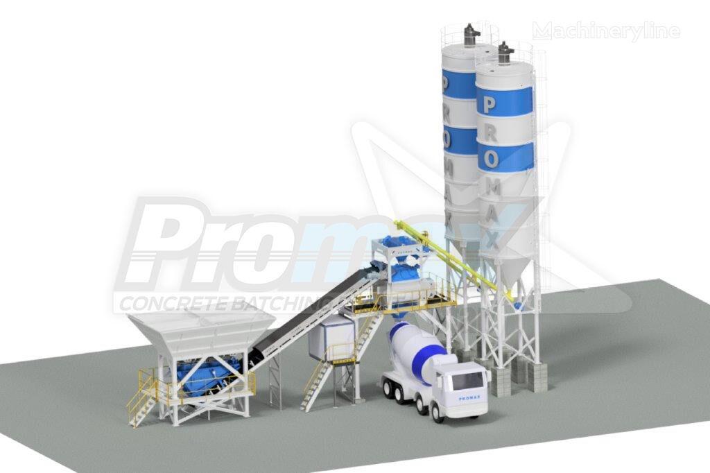 pabrik beton PROMAX Compact Concrete Batching Plant C100-TWN PLUS (100m³/h) baru