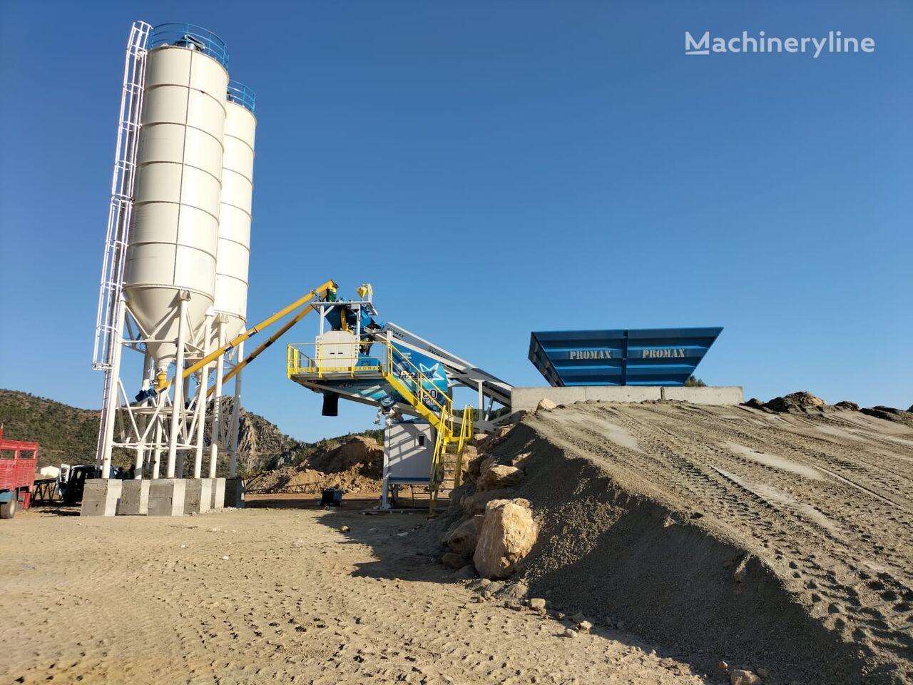 pabrik beton PROMAX Mobile Concrete Batching Plant PROMAX M60-SNG (60m3/h) baru