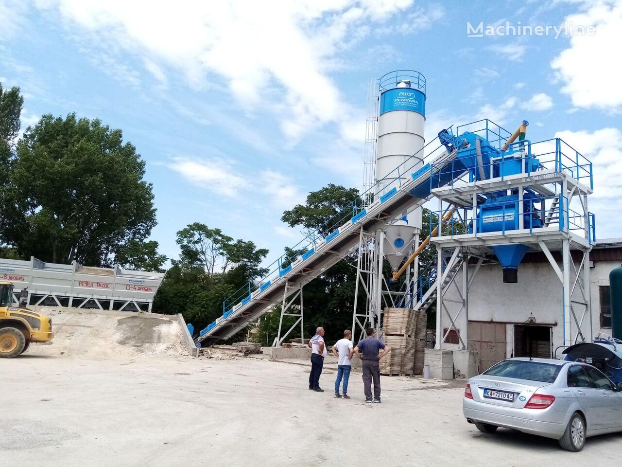 pabrik beton Plusmix 60m3/hour STATIONARY Concrete Batching Plant - BETONYY ZAVOD-CEN baru
