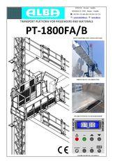 platform gantung PT ALBA 1800FA/B baru