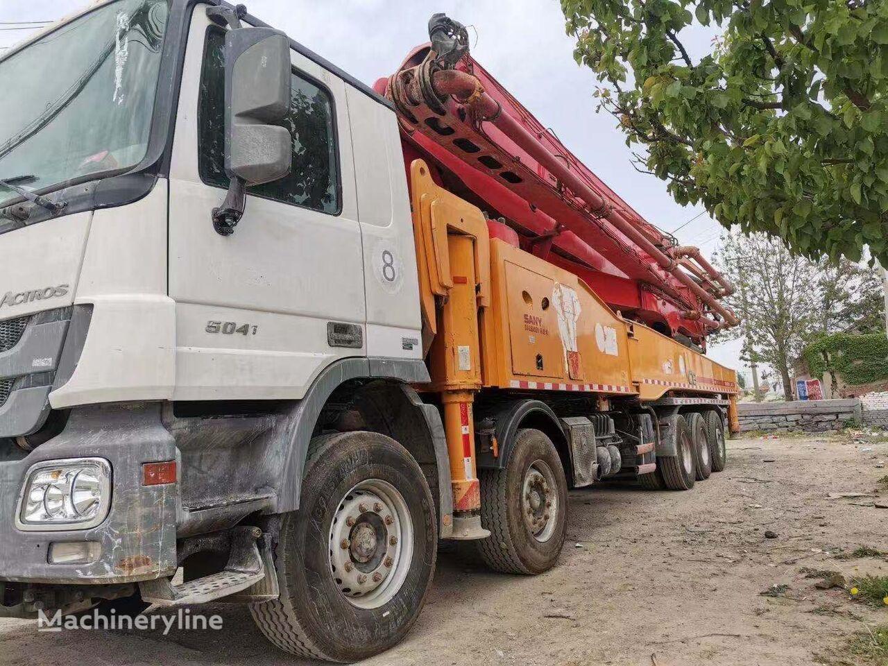 pompa adonan beton SANY 2014 62m on BENZ 5041, Euro IV