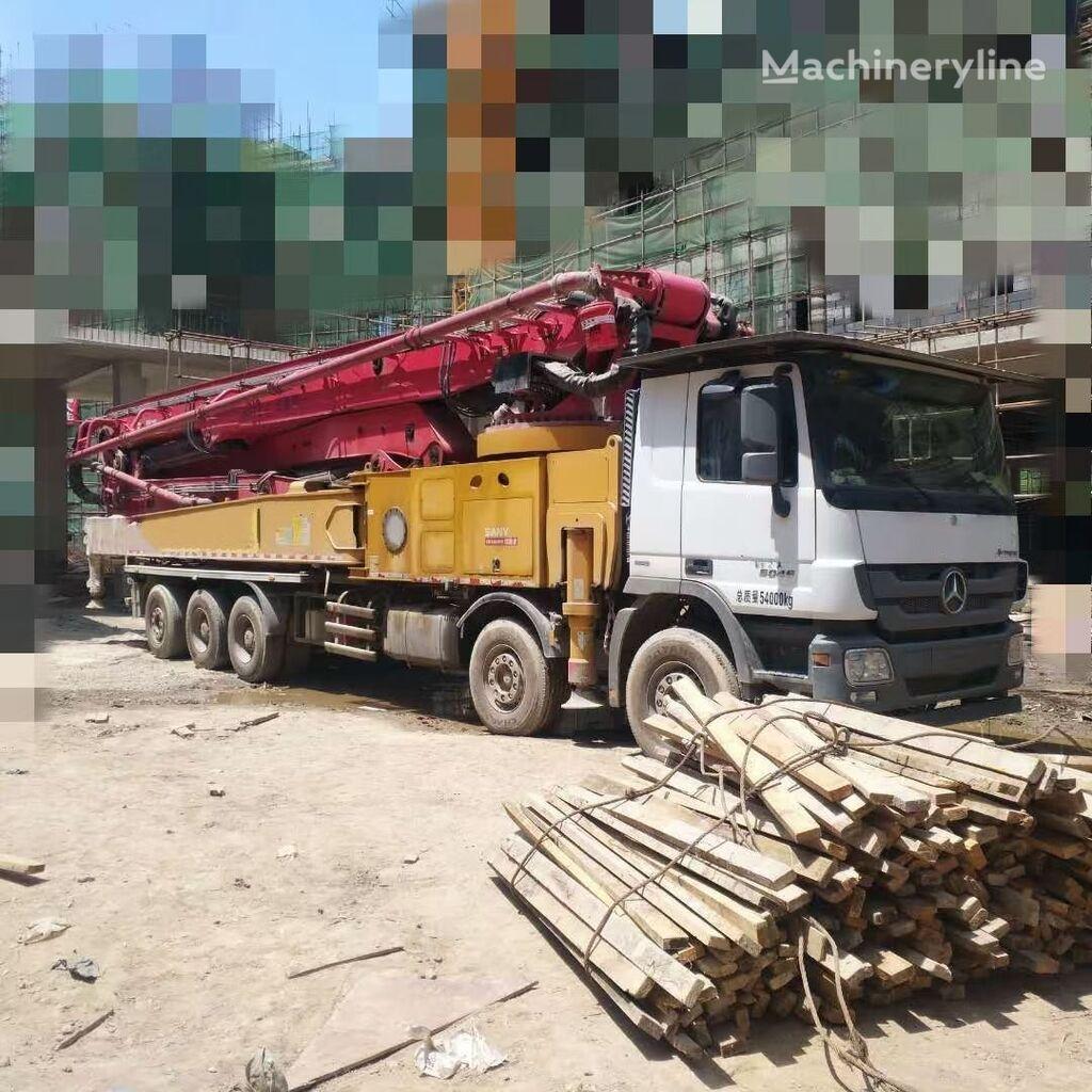 pompa adonan beton SANY 2017 72m on BENZ 6555, 12*4 truck. Euro IV