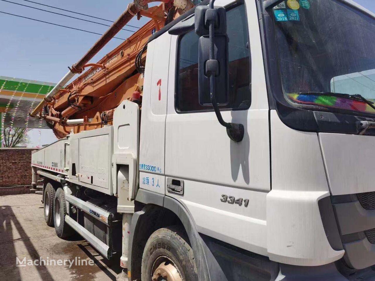 pompa adonan beton ZOOMLION 2013 47m pump on BENZ 3341, Euro III