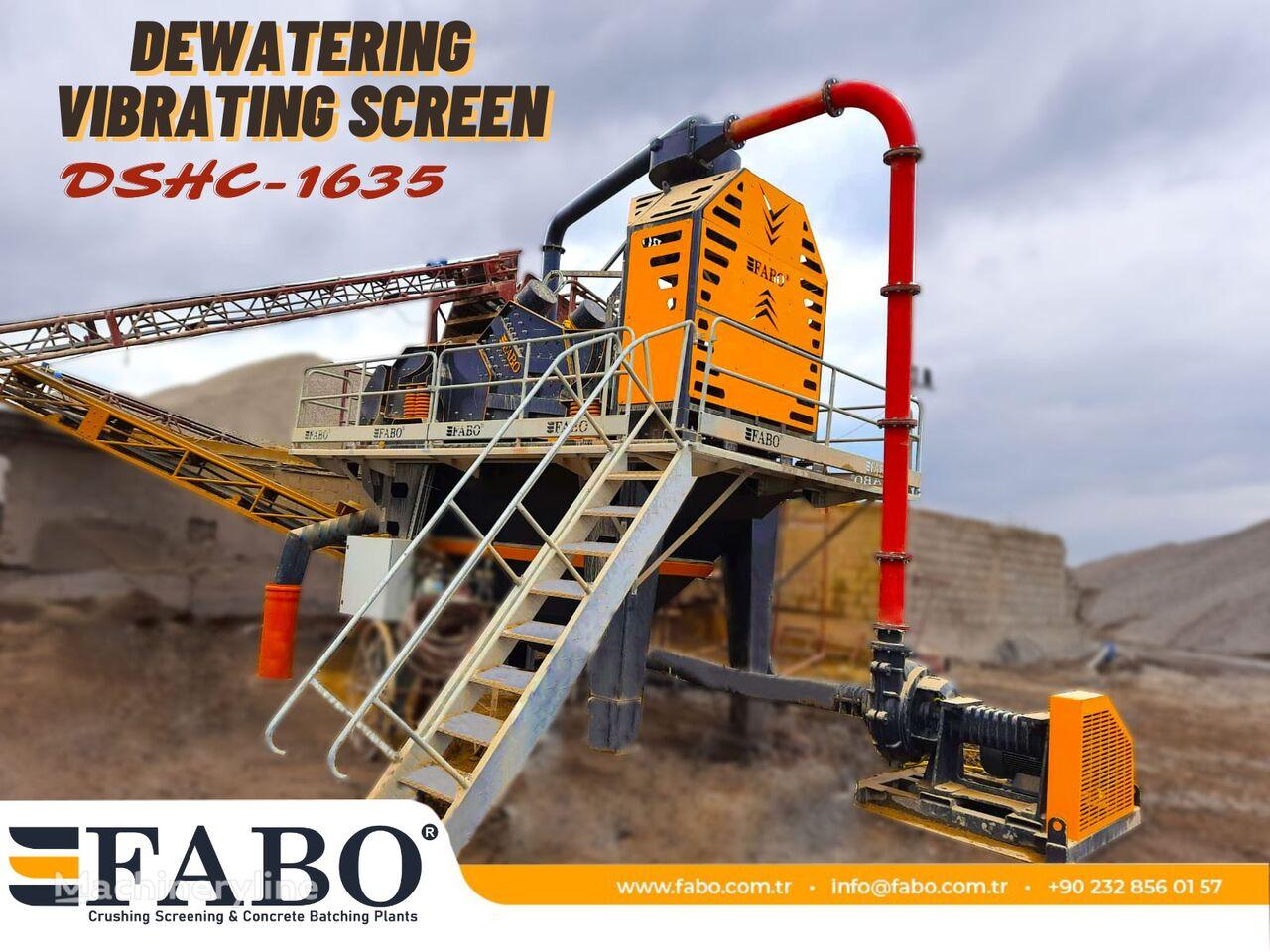 mesin pemilah getar FABO DSHC-1635 DEWATERING SCREEN baru