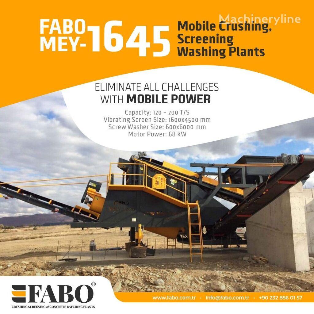 mesin pemilah getar FABO MEY 1230 TPH MOBILE SAND SCREENING & WASHING PLANT baru