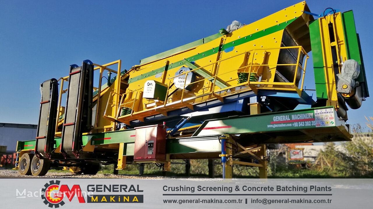 mesin pemilah getar GENERAL MAKİNA Mobile Sand Screening baru