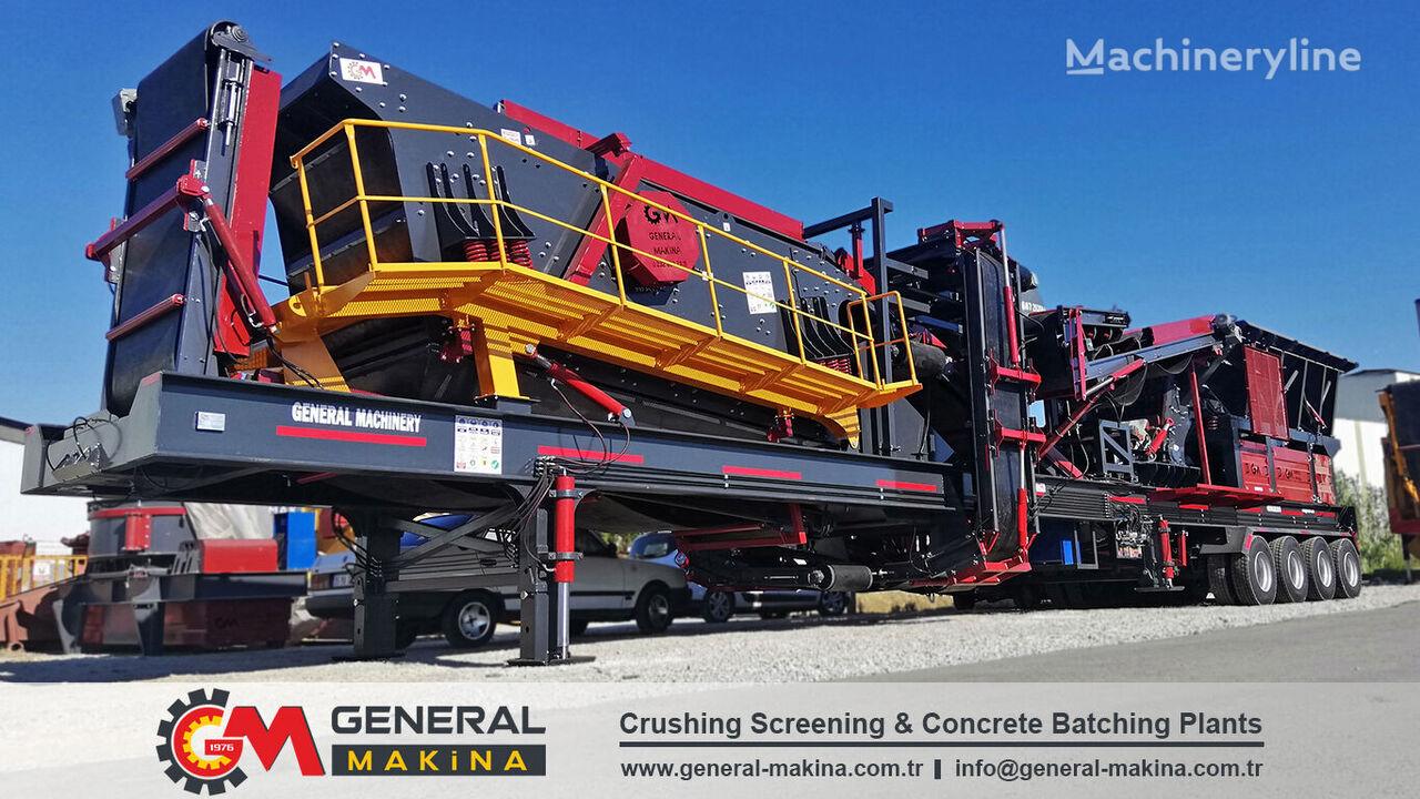 mobil perlengkapan penghancur GENERAL MAKİNA GNR02 Mobile Stone Crushing baru
