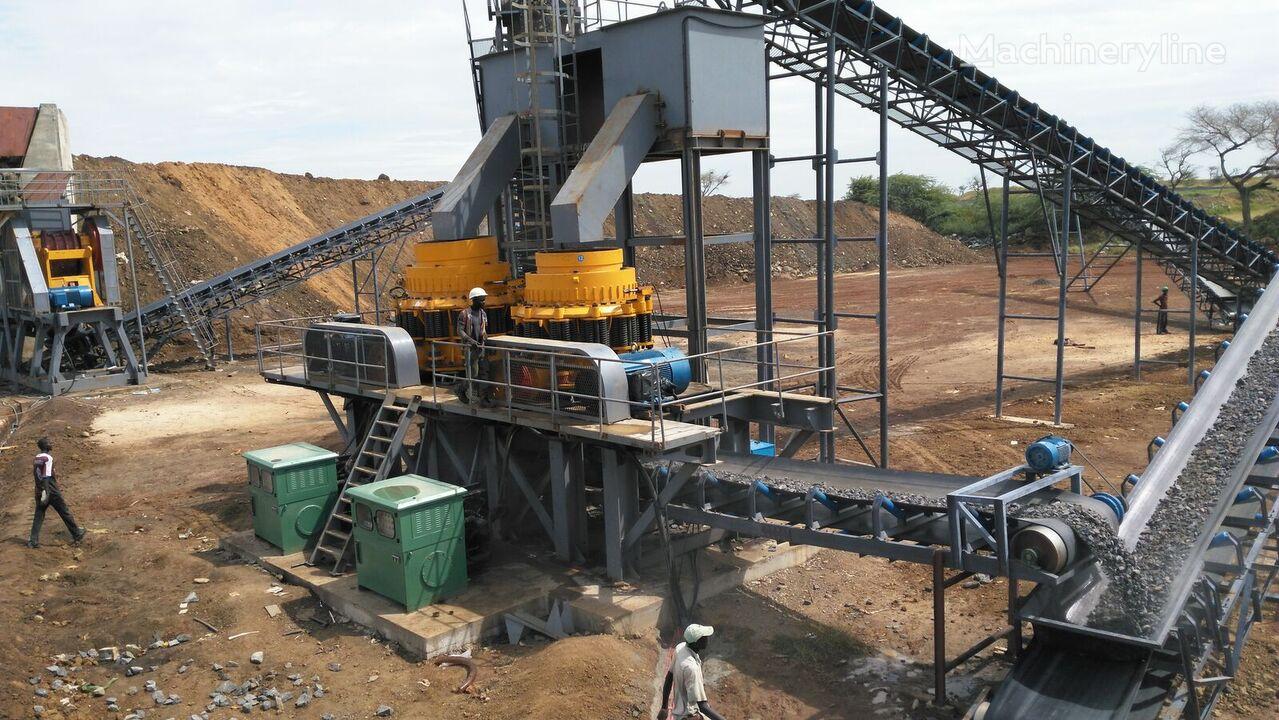 perlengkapan peremukan KINGLINK 250TPH Basalt Crushing Plant baru